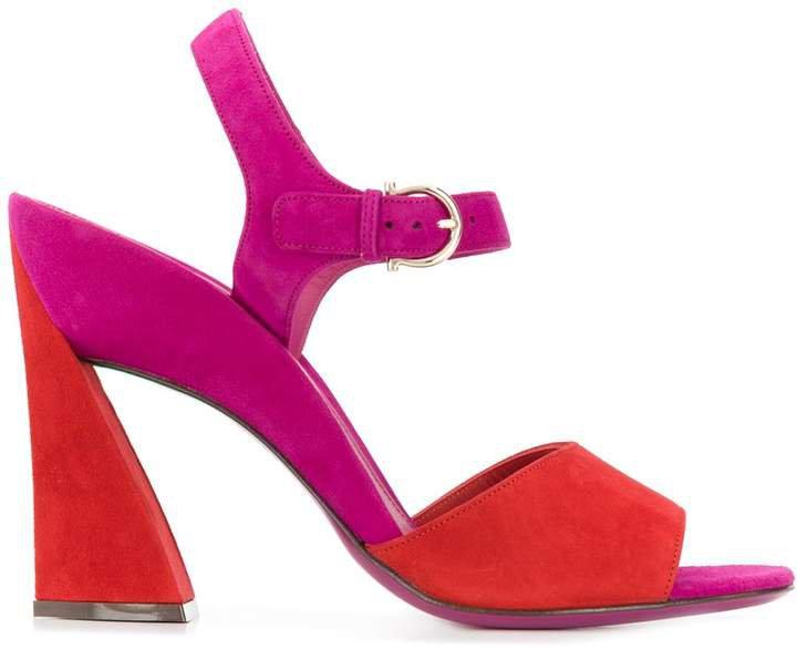 sculpted heel sandals