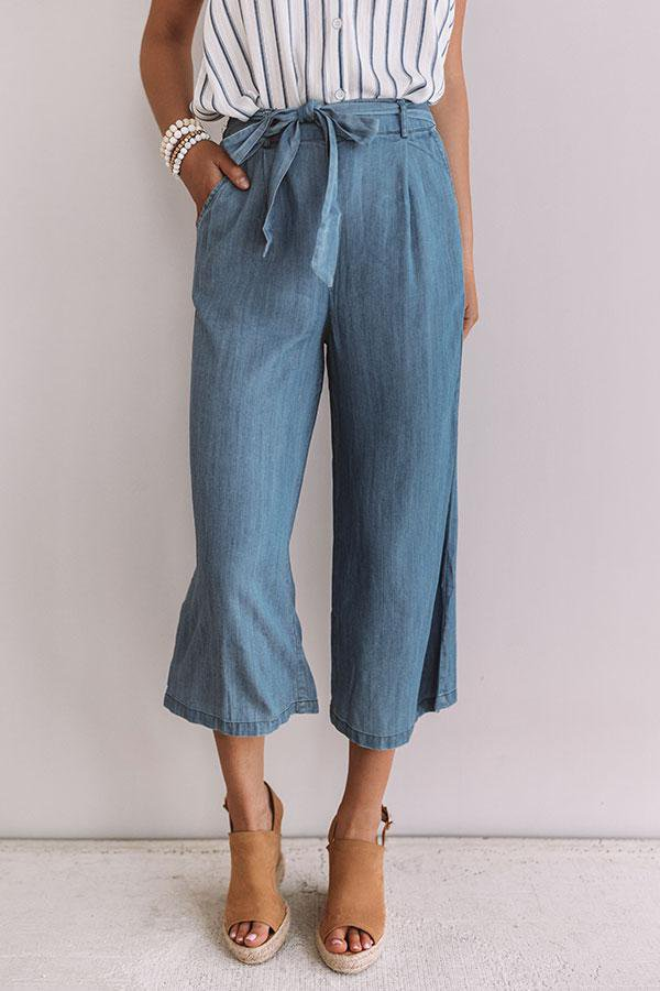 Feeling Coastal Chambray Pants • Impressions Online Boutique