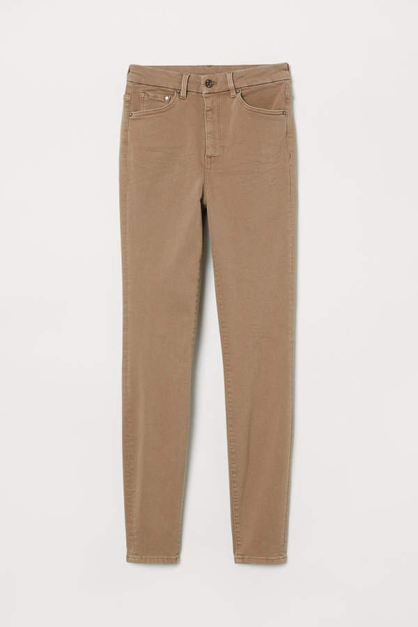 Embrace High Ankle Jeans - Beige