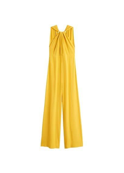 MANGO Wrap long jumpsuit