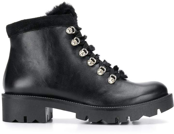 lace-up trek boots