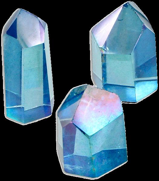 blue crystals