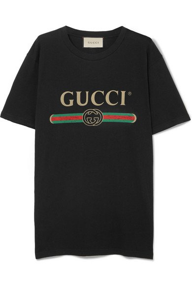 Gucci | Printed cotton-jersey T-shirt | NET-A-PORTER.COM