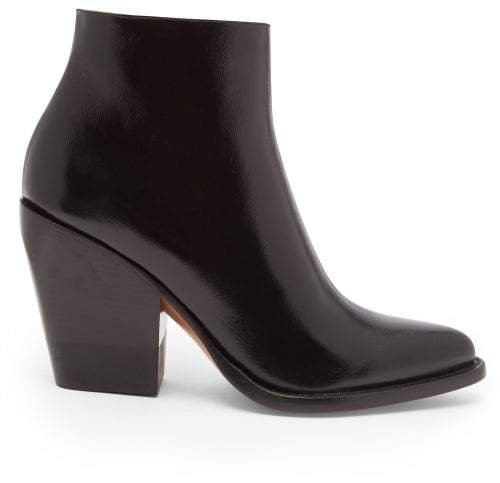 Rylee Leather Boots - Womens - Black