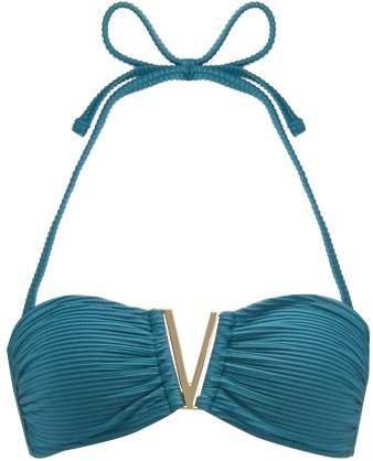 Ubud V Bandeau Bikini Top - Womens - Green