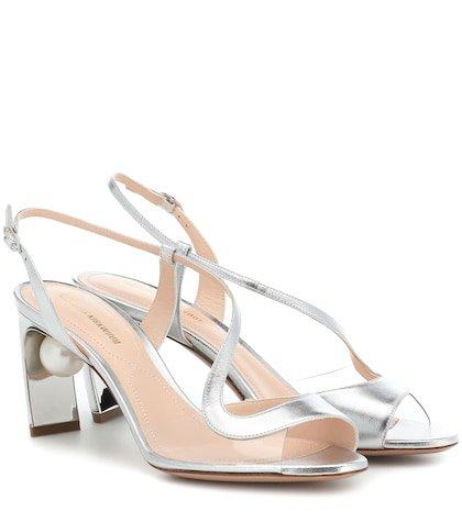 Maeva Pearl 70mm leather sandals