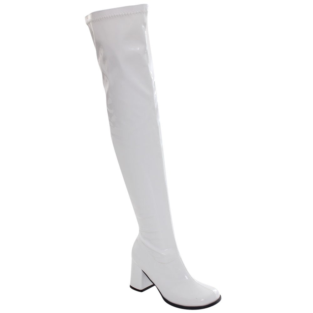 white gogo boots knee high - Google Search