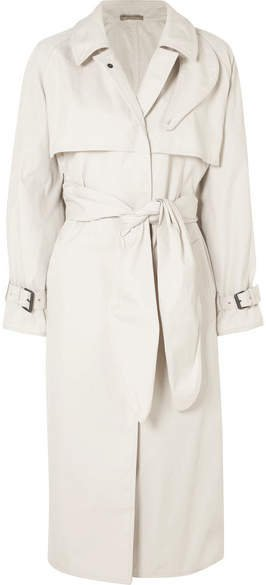 Cotton-blend Gabardine Trench Coat - Off-white