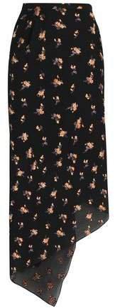 Asymmetric Embroidered Jacquard Midi Skirt