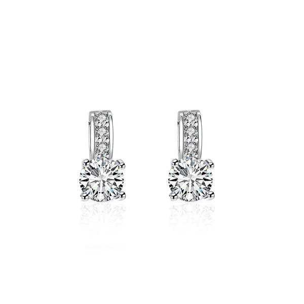 Earrings | Shop Women's Silver Faux Diamond Embellished Earrings at Fashiontage | 5a0ccef9-0-color-silver
