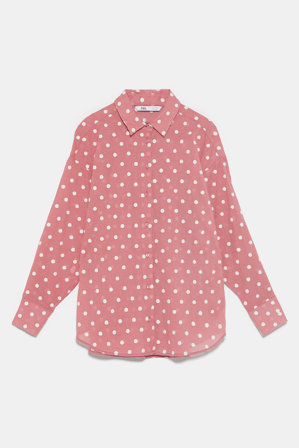 POLKA DOT SHIRT WITH EMBROIDERY - View All-SHIRTS | BLOUSES-WOMAN | ZARA United States