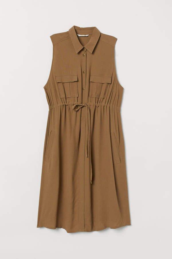 MAMA Utility Dress - Beige