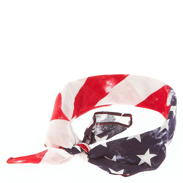 Fourth Of July American Flag Bandana Headwrap | Claire's US