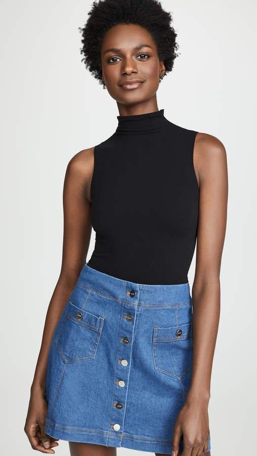 Mockneck Sleeveless Bodysuit