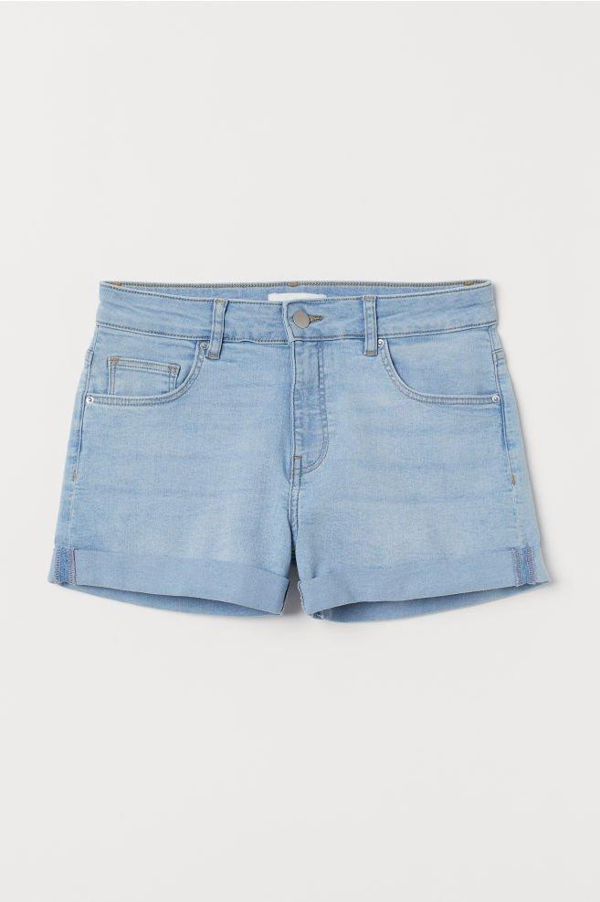 Short denim shorts - Light denim blue - Ladies   H&M GB
