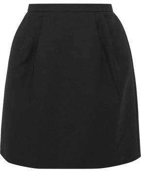 Pleated Cotton-blend Mini Skirt
