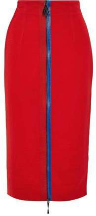 Zip-detailed Stretch-crepe Pencil Skirt