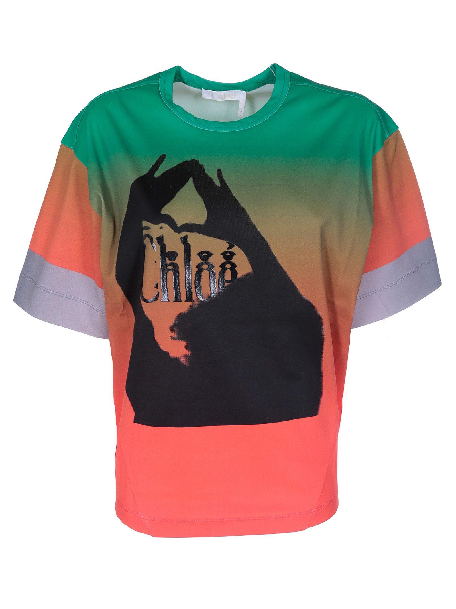 Chloé Logo Print T-shirt