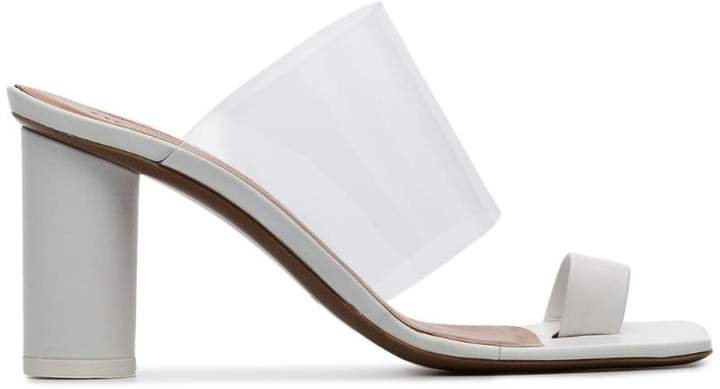white Chost 80 leather PVC sandals