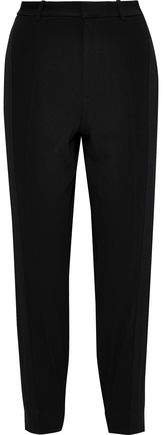 Canvas-trimmed Crepe Tapered Pants