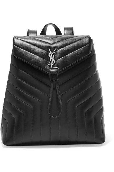 SAINT LAURENT | Loulou medium quilted leather backpack | NET-A-PORTER.COM