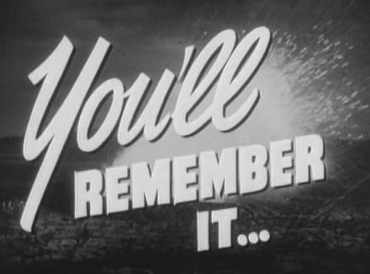 You'll Remember It