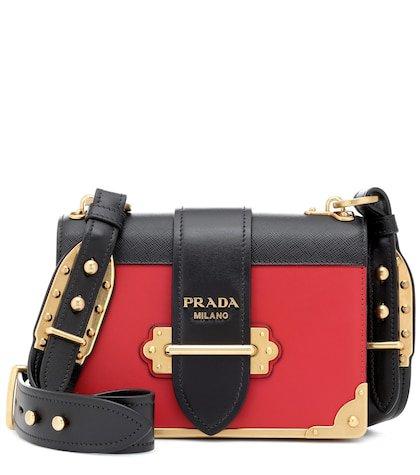 Cahier leather shoulder bag
