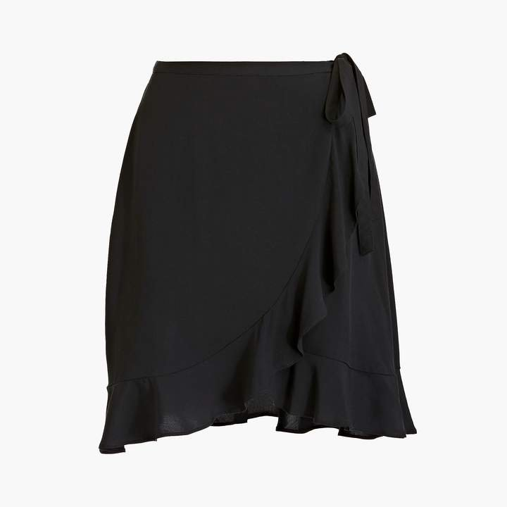 Faux-wrap mini skirt