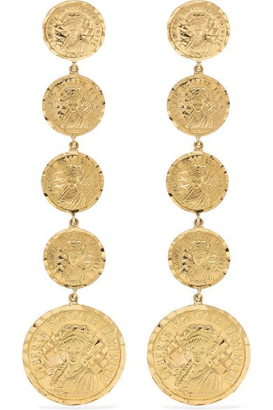 Anissa Kermiche | Louise D'Infinie 18-karat gold earrings | NET-A-PORTER.COM