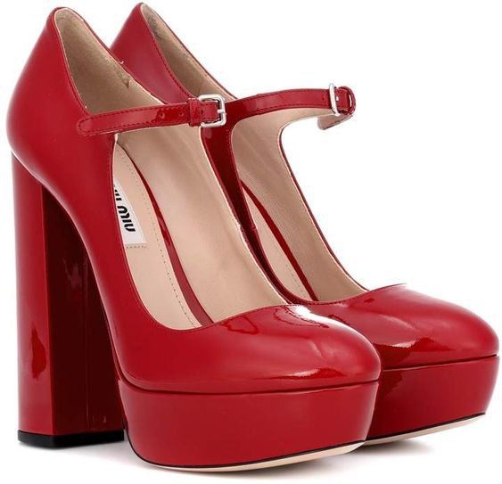 Miu Miu Mary Jane patent leather pumps