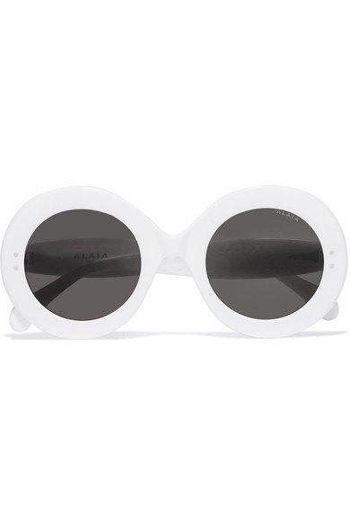 Alaïa | Round-frame studded acetate sunglasses | NET-A-PORTER.COM