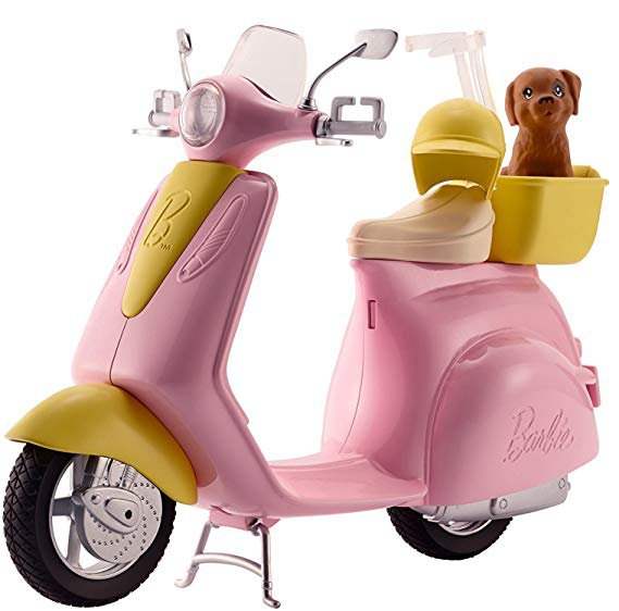 Amazon.com: Barbie Scooter with Puppy: Toys & Games