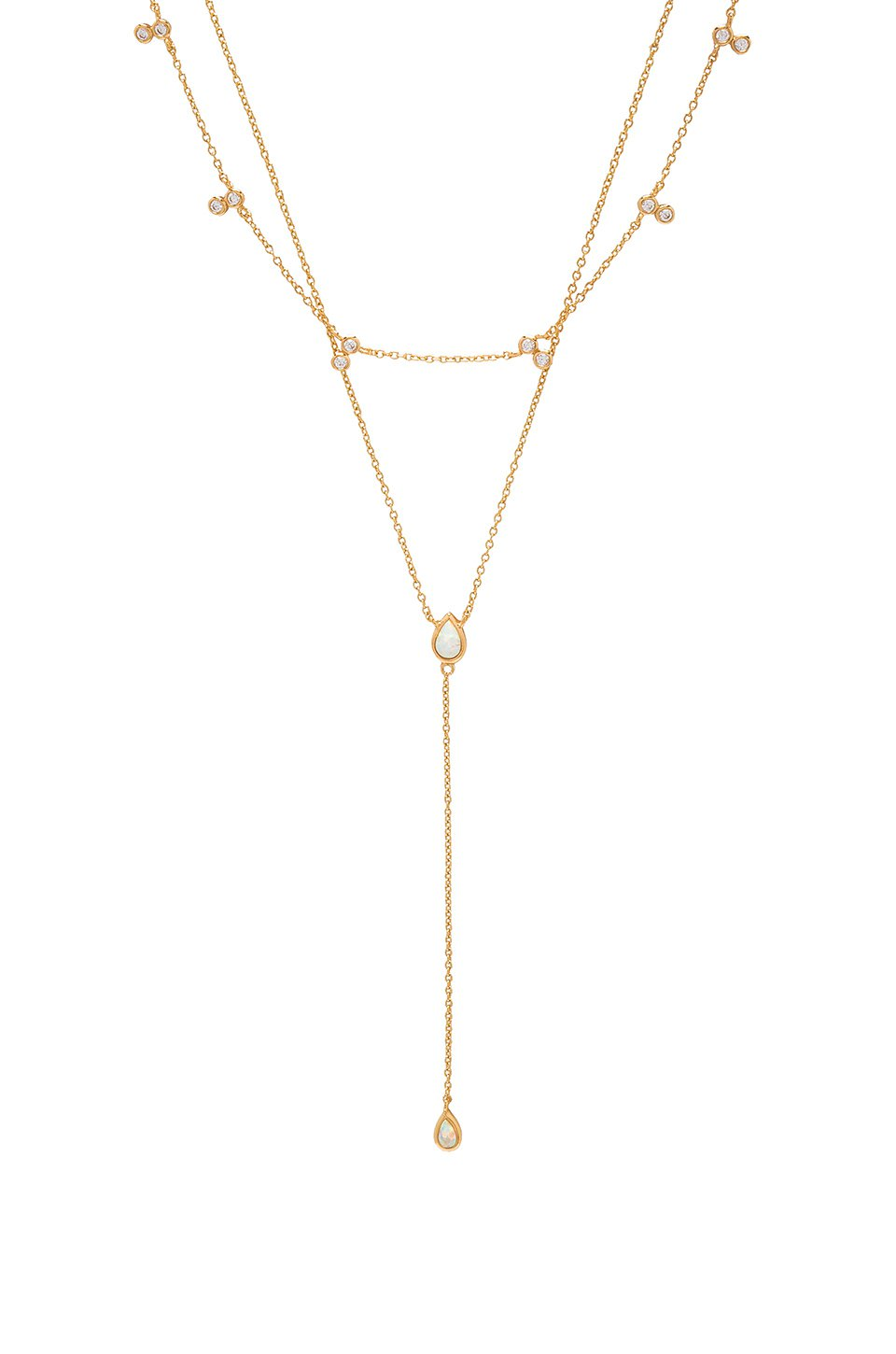 Double Teardrop Layered Necklace
