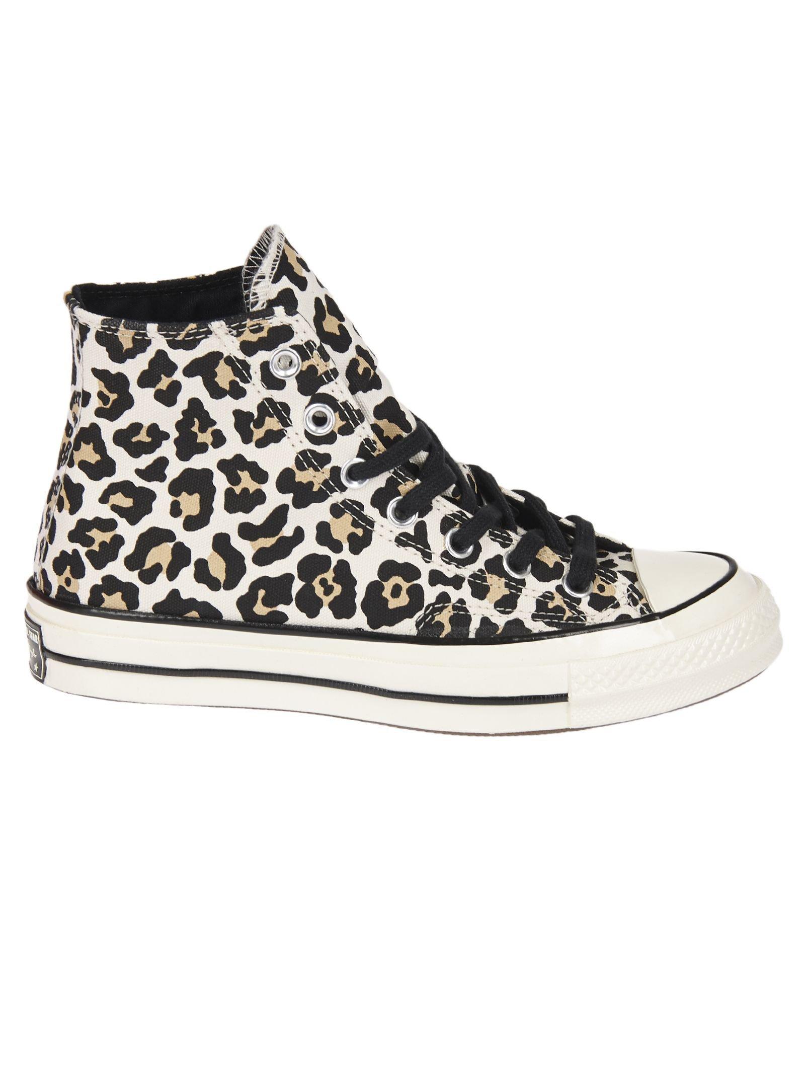 Converse Leopard Print Hi-top Sneakers