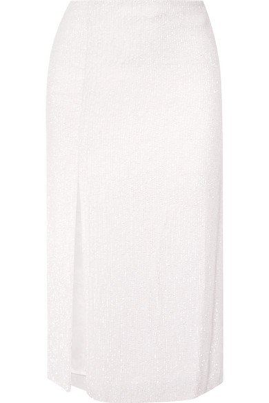 Retrofête | Veronica sequined chiffon midi skirt | NET-A-PORTER.COM