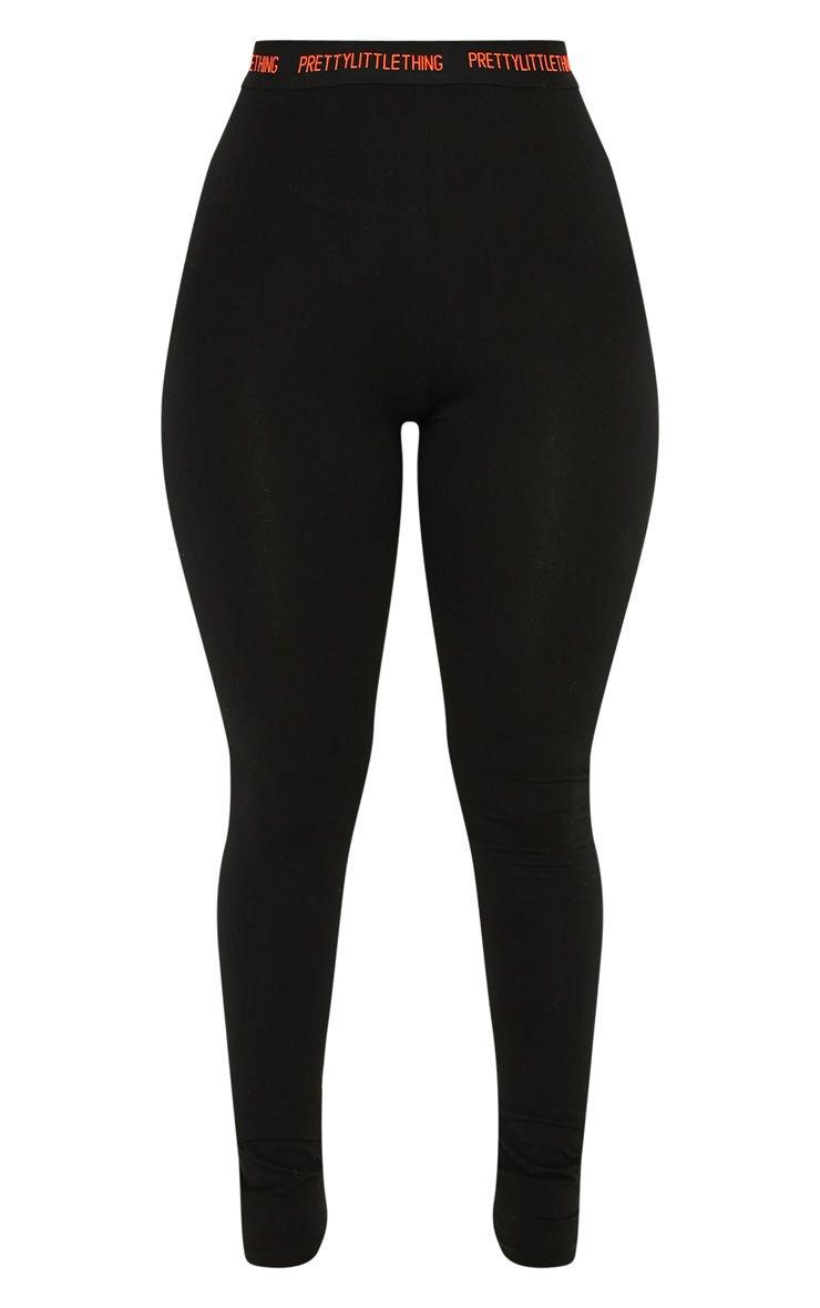Prettylittlething Black Neon Legging | PrettyLittleThing USA