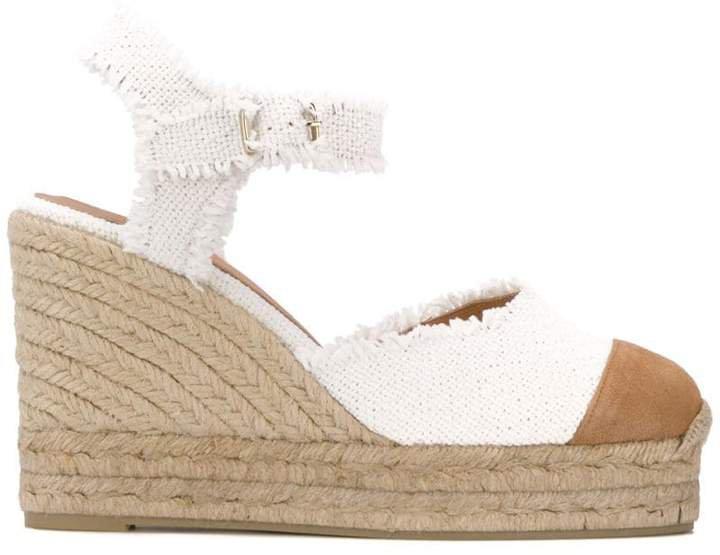 wedge heel woven sandals