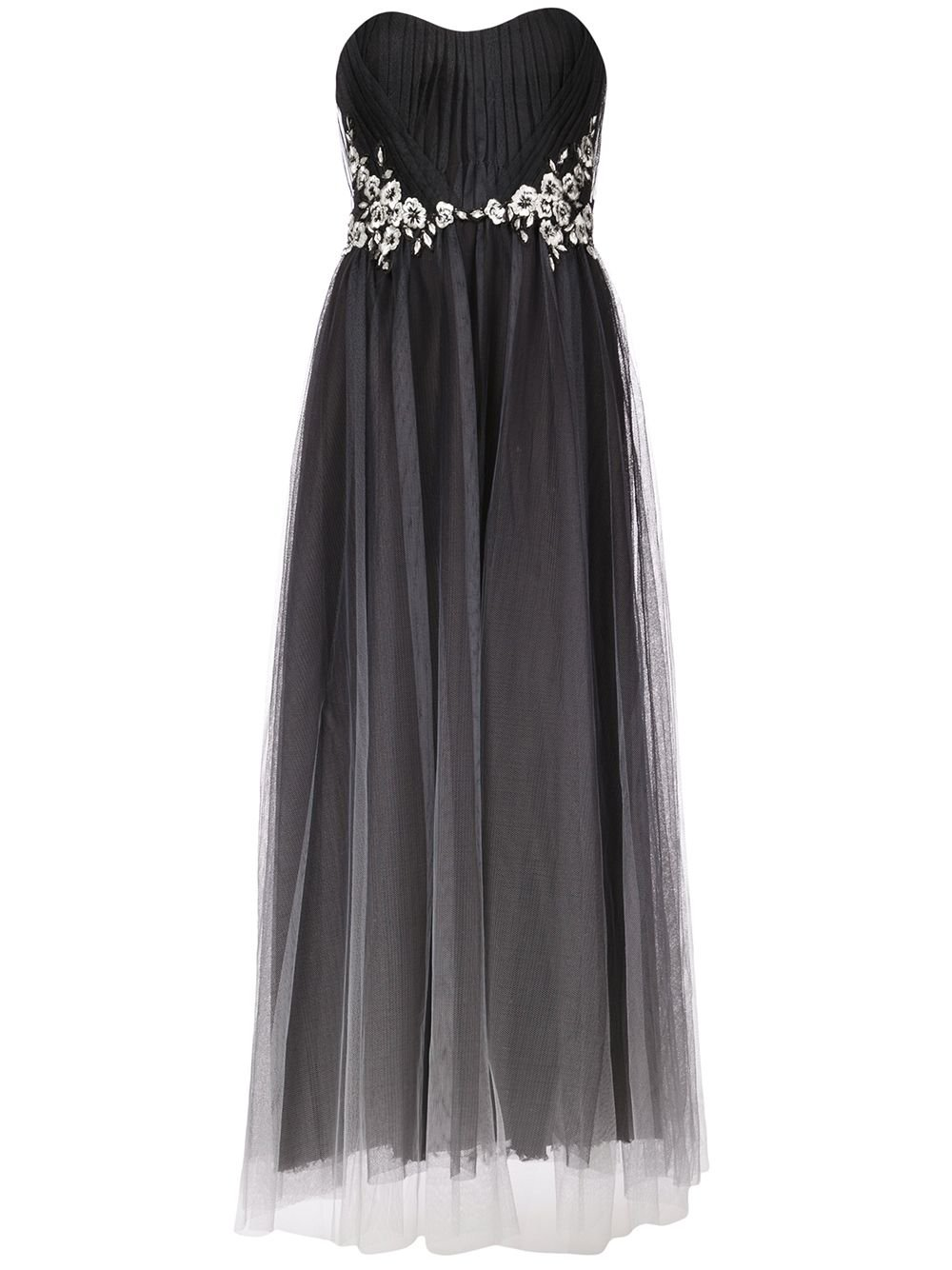 Marchesa Notte Strapless Tulle Dress | Farfetch.com