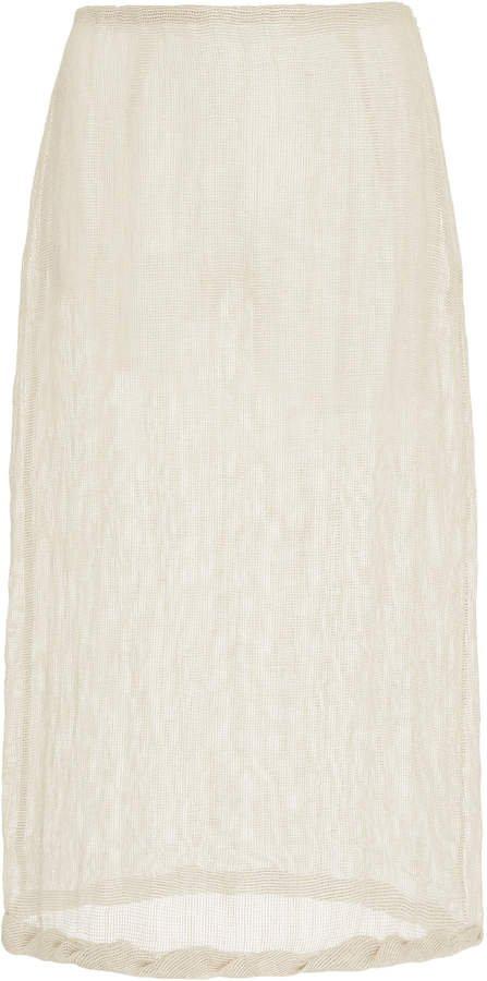 Rejina Pyo Dani Linen Voile Pencil Skirt Size: 8