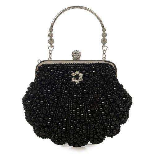 Dancing Days Eleanor Black Beaded 1920s Flapper Retro Vintage Formal Handbag | eBay