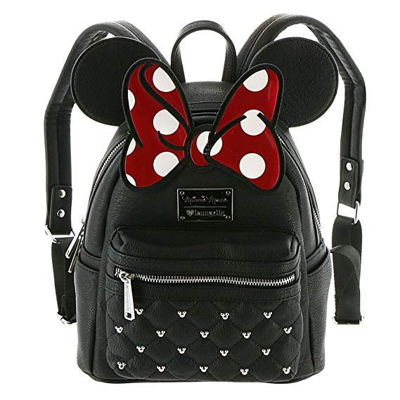 Amazon.com | Loungefly Disney Minnie Mouse Bow Mini Faux Leather Backpack WDBK0208 | Casual Daypacks