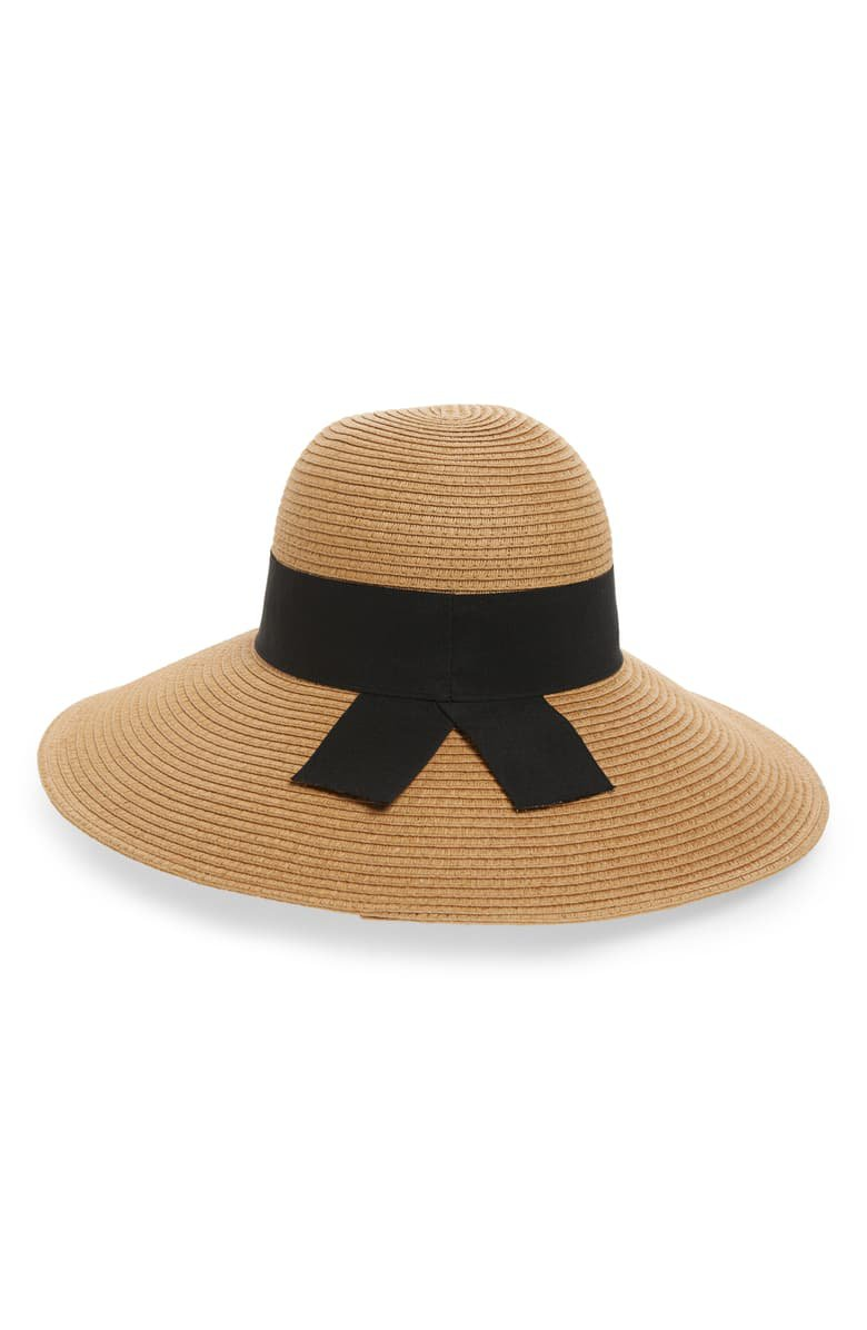 Nordstrom Straw Floppy Hat tan