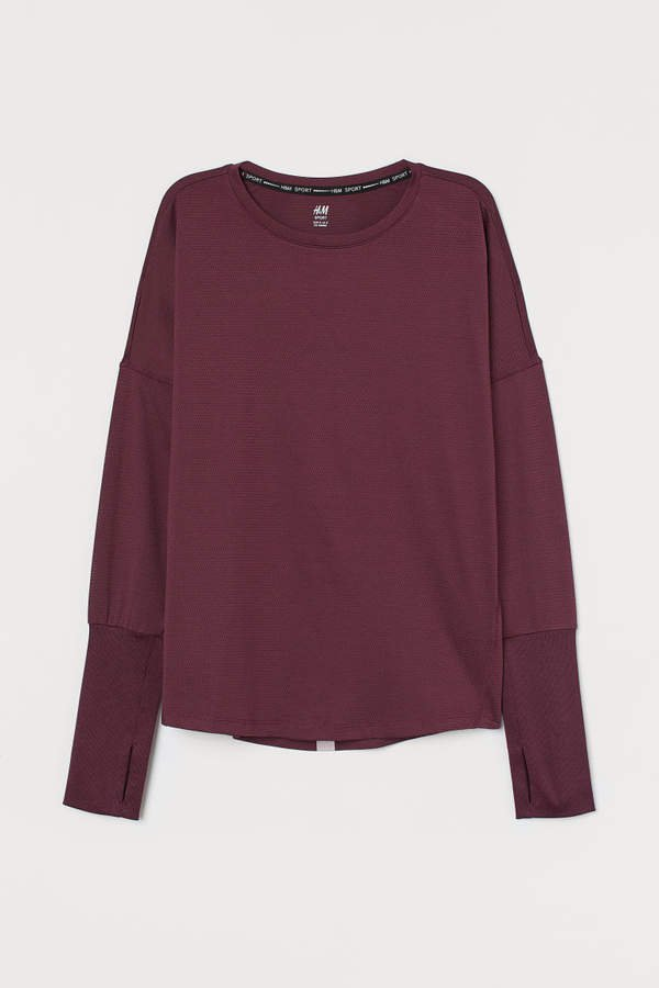 Long-sleeved Sports Top - Red