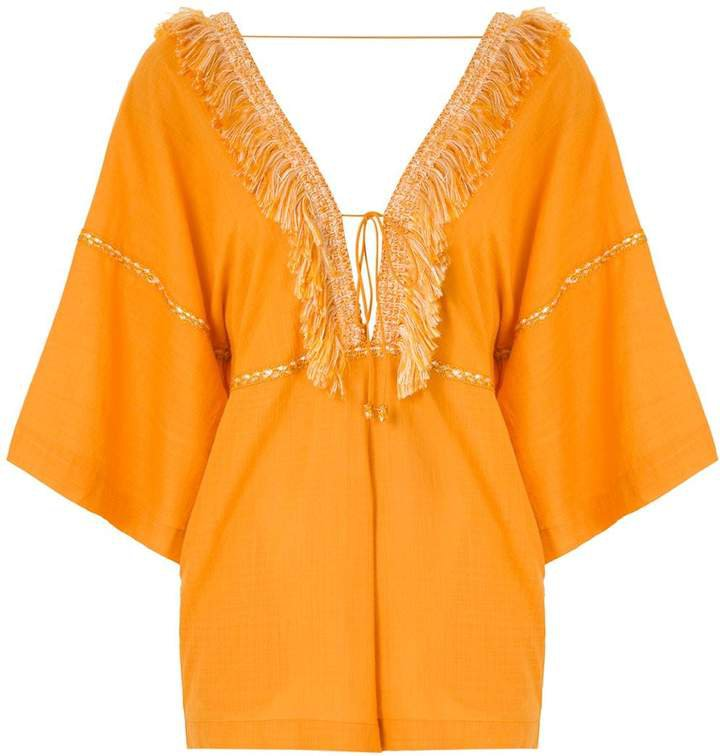 Kerr fringed playsuit