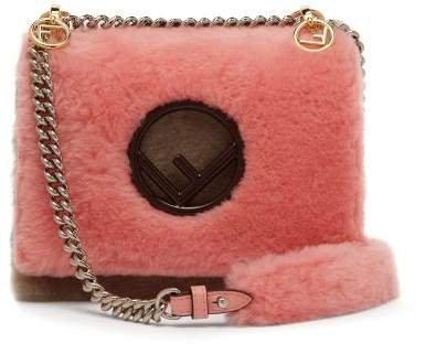 Kan I Shearling Cross Body Bag - Womens - Pink Multi
