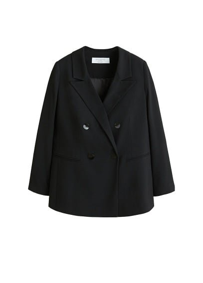Violeta BY MANGO Double-breasted structured blazer