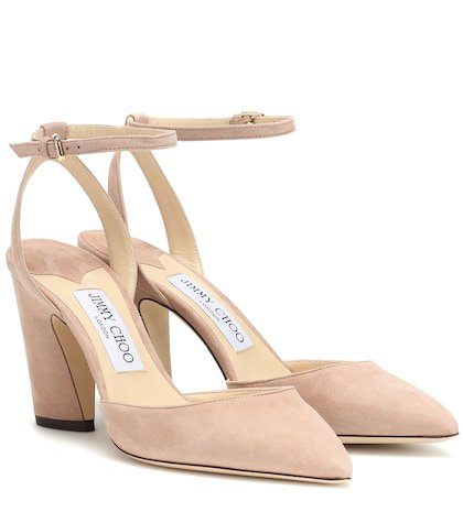Micky 85 suede pumps