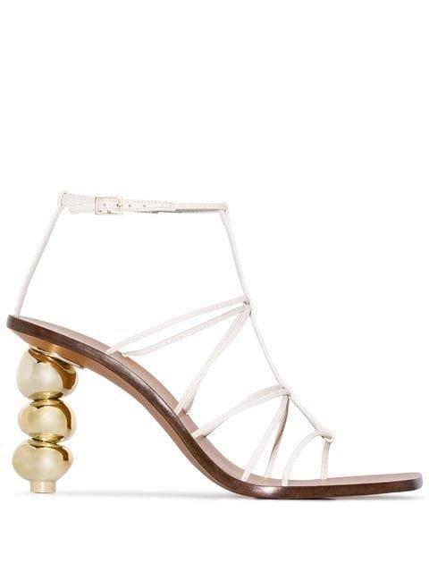 Cult Gaia Pietra 90 Strappy Sandals - Farfetch