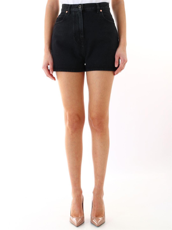 Valentino Black Denim Shorts