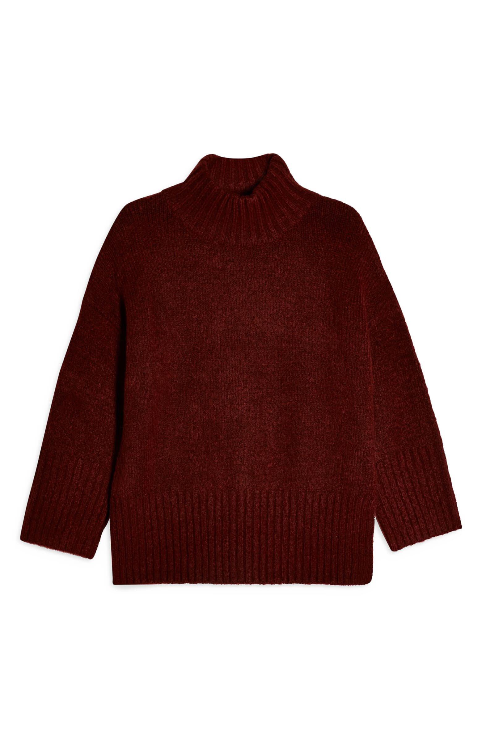 Topshop Funnel Neck Sweater (Petite)   Nordstrom